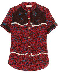 COACH - Floral Print Shortsleeved Shirt - Lyst