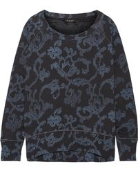 Rag & Bone - Max Oversized Printed French Cotton-terry Sweatshirt - Lyst
