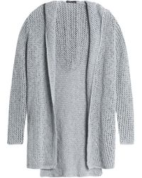 James Perse - Hooded Open-knit Cotton And Linen-blend Cardigan - Lyst