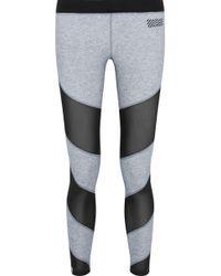 Monreal London - Waterfall Mesh-paneled Stretch-jersey Leggings - Lyst