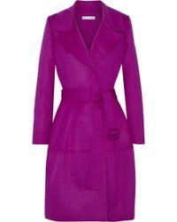 Oscar de la Renta - Brushed Wool, Angora And Cashgora-blend Trench Coat - Lyst