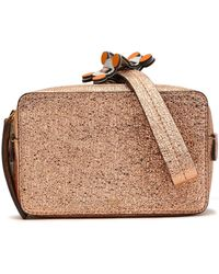 Anya Hindmarch - Stack Color-block Metallic Cracked-leather Clutch - Lyst