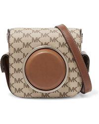 MICHAEL Michael Kors - Leather-paneled Canvas Shoulder Bag - Lyst