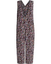 Mother Of Pearl - Woman Emeline Floral-print Cropped Silk Jumpsuit Midnight Blue Size 8 - Lyst