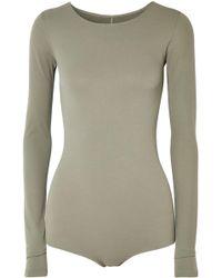 Rick Owens Lilies - Woman Stretch-jersey Bodysuit Sage Green Size 42 - Lyst