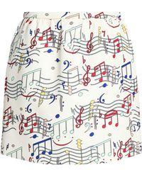 RED Valentino - Point D'esprit-paneled Cotton-jersey T-shirt - Lyst