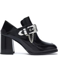 McQ - Leah Buckled Glossed-leather Ankle Boots - Lyst