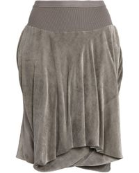 Rick Owens - Layered Velvet Shorts - Lyst