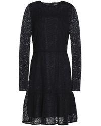 MICHAEL Michael Kors - Fluted Guipure Lace Mini Dress - Lyst