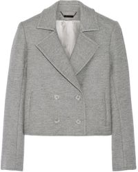 Wes Gordon - Cropped Double-breasted Wool-blend Blazer - Lyst
