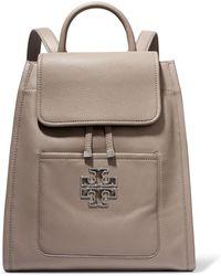 Tory Burch - Britten Textured-leather Shoulder Bag - Lyst