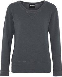 Monrow - Ribbed-knit Terry Sweatshirt - Lyst