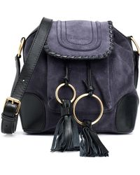 96f5642c99e5 See By Chloé - Polly Taseled Leather-trimmed Suede Shoulder Bag - Lyst
