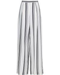 6a308273c6 Zimmermann - Woman Striped Silk Crepe De Chine Wide-leg Trousers Ivory -  Lyst