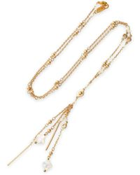 Chan Luu - Gold-tone And Bead Necklace - Lyst