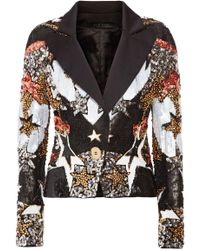 Elie Saab - Bead And Sequin-embellished Satin Blazer - Lyst