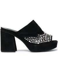 McQ - Studded Suede Mules - Lyst