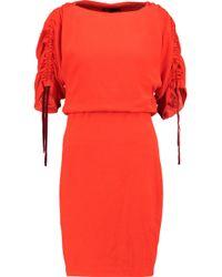 Maje - Roan Ruched Crepe Mini Dress - Lyst
