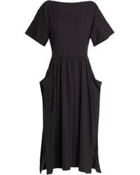 James Perse - Woman Cotton-blend Twill Shirt Dress Anthracite - Lyst