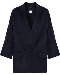 Iris & Ink - Woman Dorian Double-breasted Wool-blend Felt Jacket Navy - Lyst