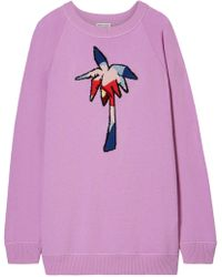 Tomas Maier - Woman Oversized Intarsia Cashmere Jumper Lavender - Lyst