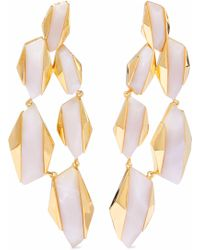 Noir Jewelry - Woman 14-karat Gold-plated Resin Earrings Off-white - Lyst