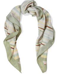 Valentino - Striped Silk-twill Scarf - Lyst