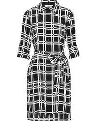 Diane von Furstenberg - Prita Checked Silk Shirt Dress - Lyst