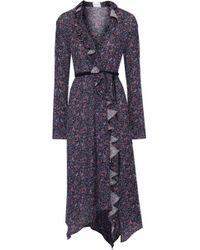 Magda Butrym - Ferrara Ruffled Floral-print Silk Crepe De Chine Midi Dress - Lyst