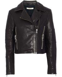 J Brand - Leather Biker Jacket - Lyst