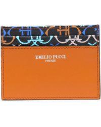 Emilio Pucci - Printed Leather Cardholder - Lyst