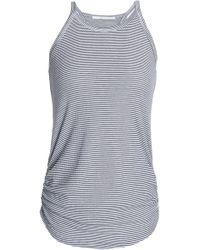 Kain - Ruched Striped Stretch-knit Tank - Lyst