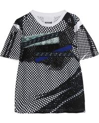 Koche - Embellished Printed Cotton-jersey T-shirt - Lyst