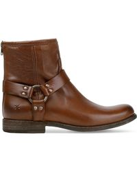 Frye | Phillip Harness Leather Boots | Lyst