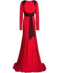 Vionnet - Stretch Jersey-paneled Crepe De Chine Gown - Lyst
