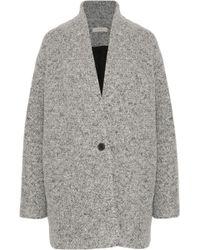 IRO - Woman Bouclé-tweed Coat Gray - Lyst