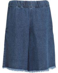 Marques'Almeida - Frayed Denim Shorts Mid Denim - Lyst