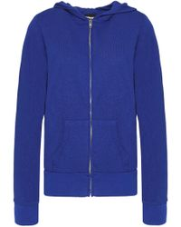 Monrow - Knitted Hooded Jacket Cobalt Blue - Lyst