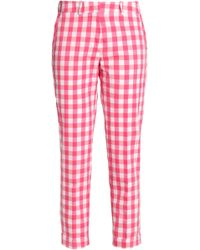 Love Moschino | Gingham Tapered Pants | Lyst
