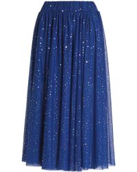 Love Moschino - Embellished Tulle Midi Skirt - Lyst