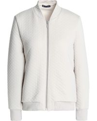 Petit Bateau - Quilted Cotton-blend Jersey Jacket - Lyst