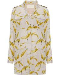 Valentino - Printed Silk Crepe De Chine Playsuit - Lyst