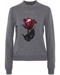 Markus Lupfer - Grace Sequin-embellished Merino Wool Sweater - Lyst