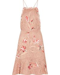 Sachin & Babi - Nadia Fluted Embroidered Corded Lace Dress - Lyst