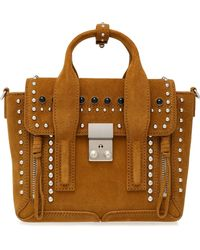 3.1 Phillip Lim - Pashli Studded Suede Tote - Lyst