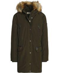 MICHAEL Michael Kors - Faux Fur-trimmed Shell Hooded Down Coat - Lyst