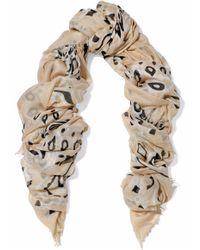 Chan Luu - Frayed Printed Modal, Cashmere And Silk-blend Gauze Scarf - Lyst