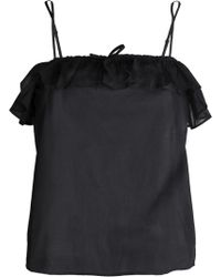Anine Bing - Ruffle-trimmed Cotton-mousseline Camisole - Lyst