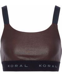 Koral - Dare Cutout Coated Stretch Sports Bra - Lyst