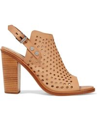 Rag & Bone - Wyatt Laser-cut Leather Sandals - Lyst